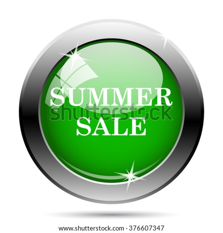 Summer sale icon. Internet button on white background. EPS10 vector.