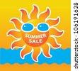 Summer Sale Icon / Summer Sale Template / Summer fashion sale - stock vector