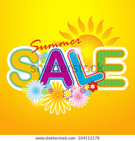 Summer Sale Icon / Summer Sale Template / Summer fashion sale - stock vector