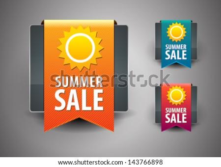 Summer sale label - stock vector