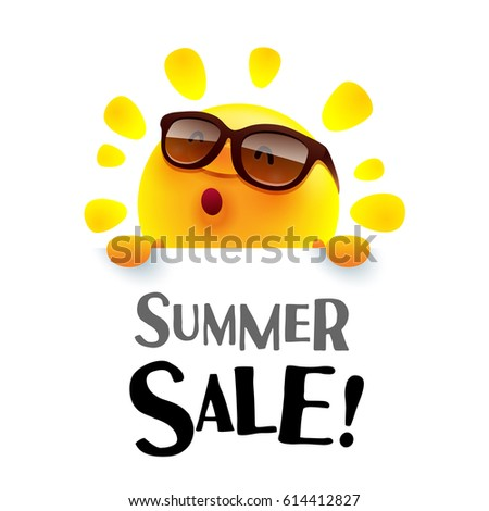 Summer Sale! Summer sun with big sign