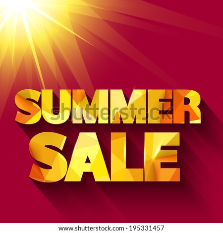 Summer sale typography. Vector background