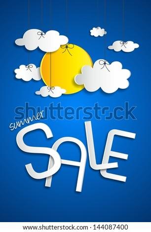 Summer sale vector illustration - stock vector