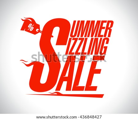 Summer sizzling sale advertising design