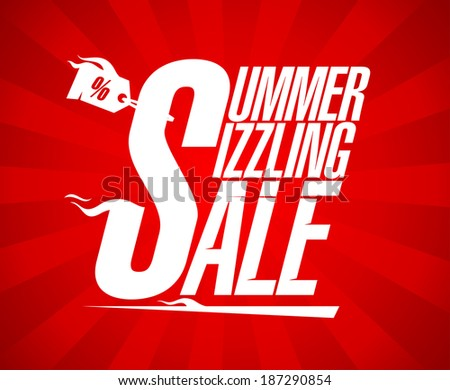 Summer sizzling sale design template. - stock vector