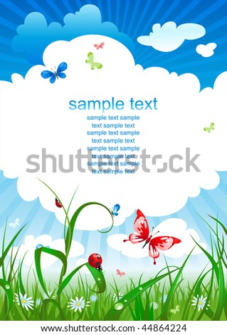 summer  sky  background with space for text