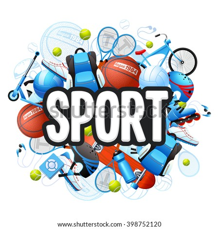 sports cartoon stock images  royalty free images   vectors sports equipment clip art free sports equipment clipart