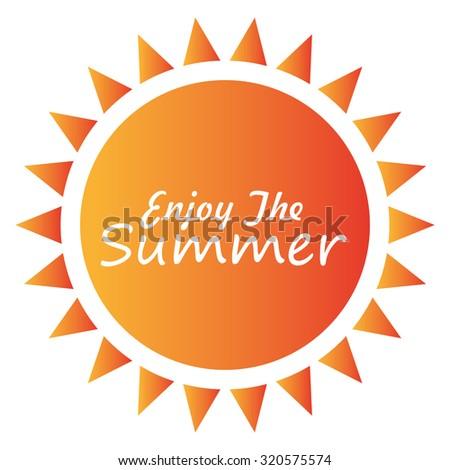 Summer sun cartoon design, vectori llustration eps10. - stock vector
