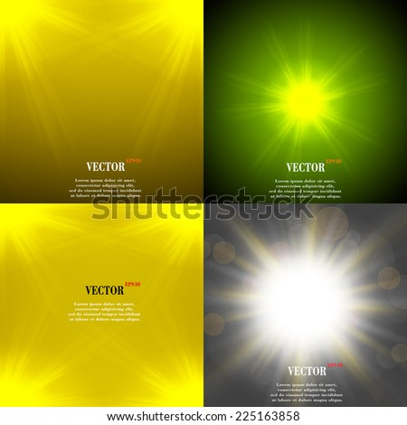 Summer sun light burst. If you enjoy the hot and glittering summer sun, that is the background with space for your message. EPS10. Vector illustration - stock vector