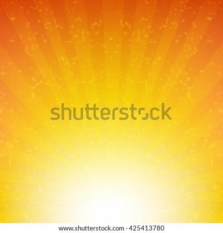 Summer Sunburst Poster, With Gradient Mesh, Vector Illustration - stock vector