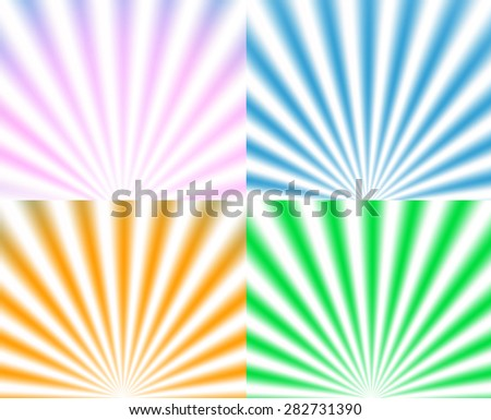 summer sunburst. Vector background
