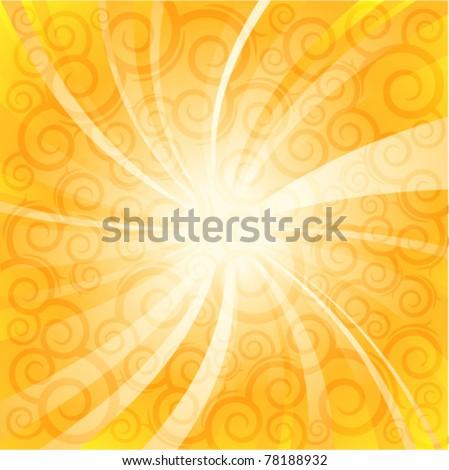 summer sunlight. vector background - stock vector