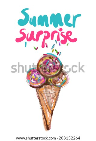 Summer Surprise - stock vector