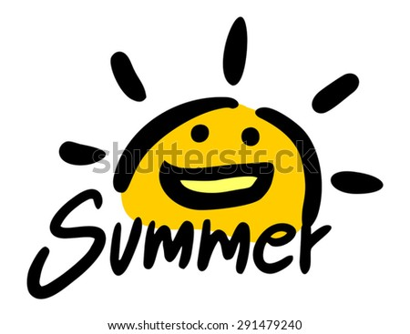 summer symbol - stock vector