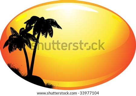 Summer template with palm vector