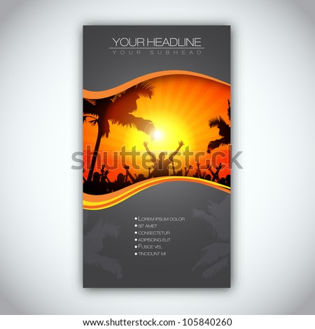Summer Time Brochure Template | EPS10 Vector Design - stock vector