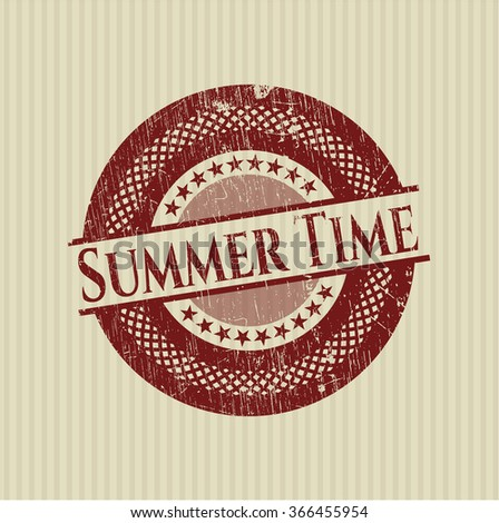 Summer Time grunge stamp