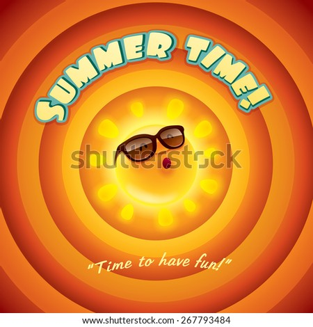 Summer time. Retro background. - stock vector