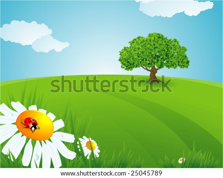 Summer time. Vector background. - stock vector