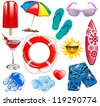 Summer time vector collection elements 1 - stock vector
