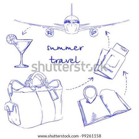 Summer travel - stock vector