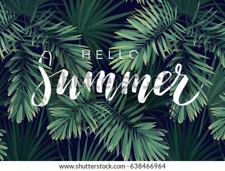 Summer Tropical Vector Design Banner Flyer Stock Vector ...