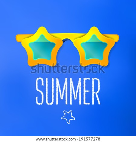 Summer vacation and travel background. Vector Illustration, Graphic Design Editable For Your Design.  - stock vector