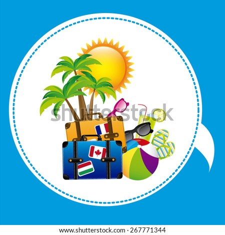 Summer Vacation design over blue background, vector illustration - stock vector