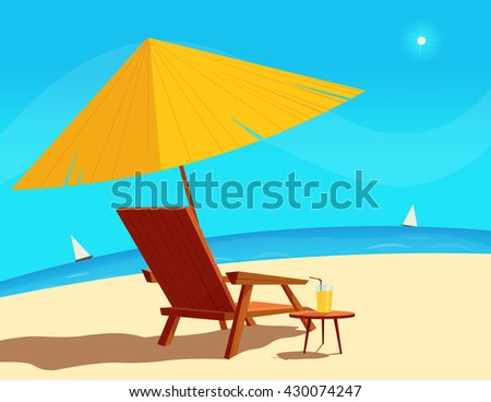 Summer vacation, Relax on the beach