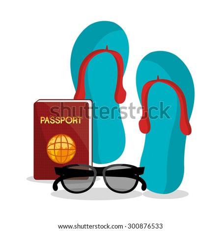 Summer vacations design, vector illustration eps 10.