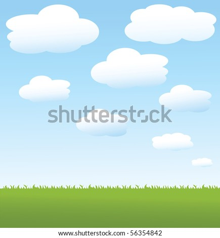 summer vector background - stock vector