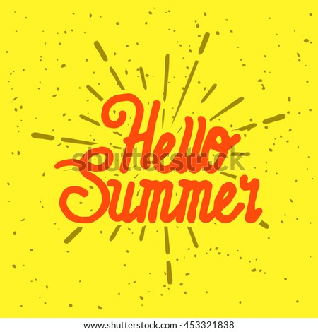 Summer vector illustration quote for logo and poster
