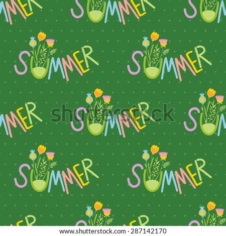 Summer. Vector pattern seamless.  - stock vector