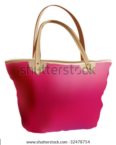 summers hand bag - stock vector