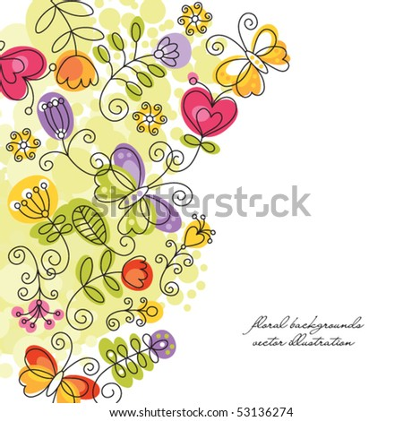 summery background - stock vector
