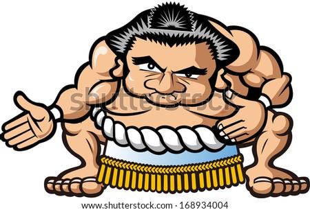 Sumo wrestler - stock vector