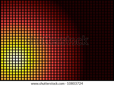 Sun abstract background in a tile formation in red hot colours
