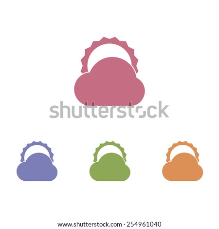 Sun and Cloud icons - stock vector