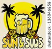 sun and suds - stock vector