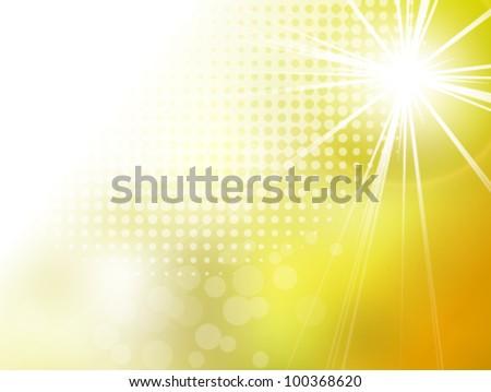 Sun background summer pattern - stock vector