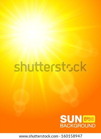 Sun background, vector illustration.
