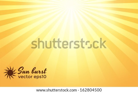 Sun burst background. Vector eps10 - stock vector