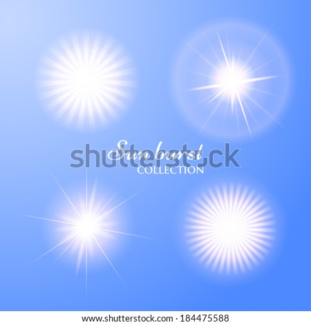Sun burst collection. Vector eps10 - stock vector