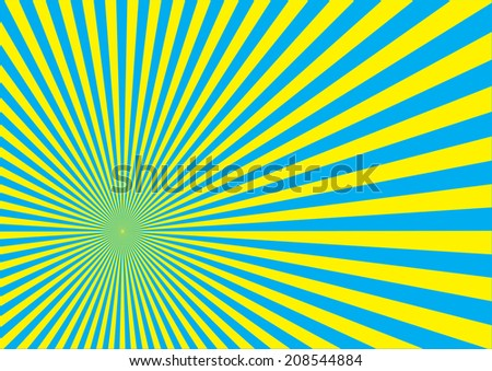 Sun Burst Effect. Vector