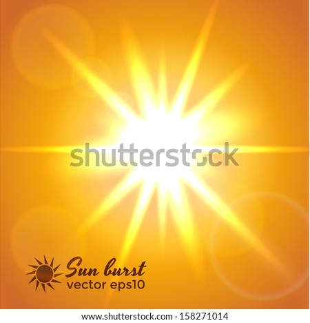 Sun burst. Vector eps10 - stock vector