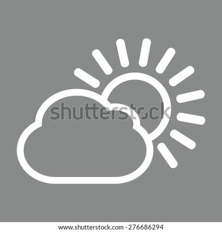 Sun cloud icon - stock vector