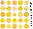 sun collection - stock vector