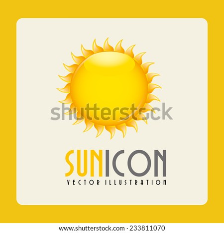 sun design , vector illustration - stock vector