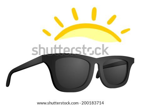 Sun glasses vector design - stock vector