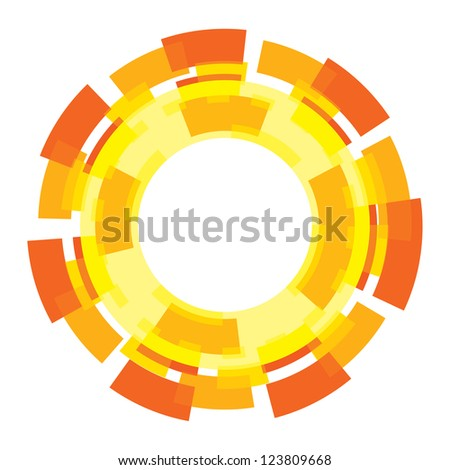 Sun graphic design element sign symbol abstract - stock vector